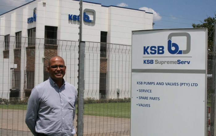 KSB Pumps and Valves SupremeServ division manager, Grant Glennistor. Image credit: KSB