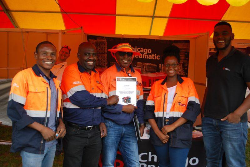 Chicago Pneumatic showcases brand at MTE's Botswana expo