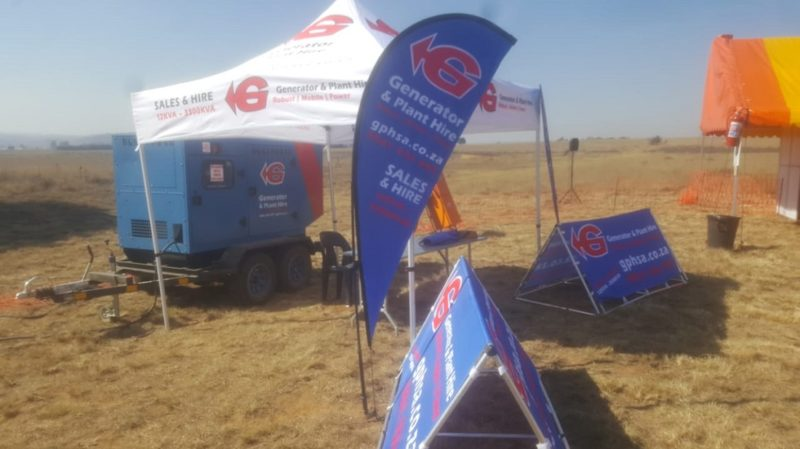Generator and Plant Hire SA exhibited at the Bronkhorstspruit expo and supplied power during the show with one of their back-up diesel generators. Image credit: MTE