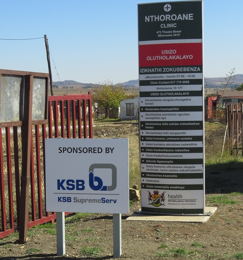 The Nthoroane Clinic in Mpumalanga was sponsored by KSB Pumps and Valves. Image credit: KSB Pumps and Valves