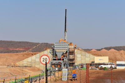 The Nokeng Fluorspar plant when it was still under construction. Image credit: Leon Louw