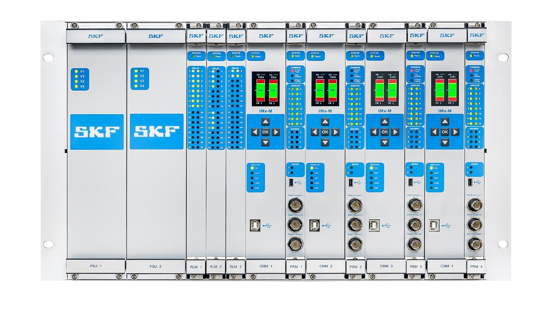 The SKF Multilog On-line System is a protection system designed to rapidly react to any deviations to protect the equipment it is monitoring. Image credit: SKF