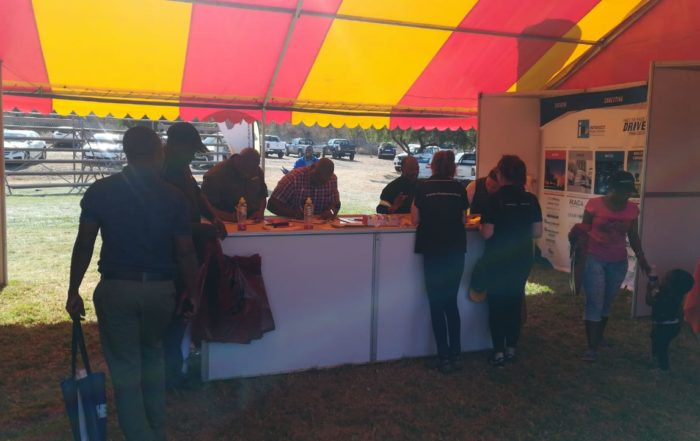 Eager visitors registering for the Steelpoort expo. Image credit: MTE