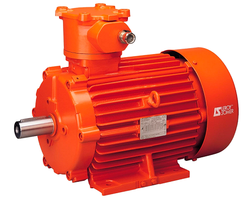 <caption> Vert Energy's Leroy-Somer ATEX multi-purpose fixed and variable speed-compatible motors comply with stringent quality and safety specifications. Image credit: Vert Energy