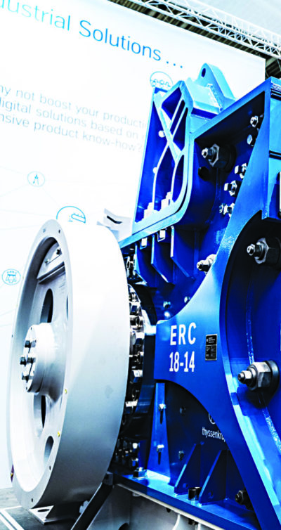 The compact and robust Eccentric Roll Crusher was designed, developed and manufactured by thyssenkrupp. Image credit: thyssenkrupp