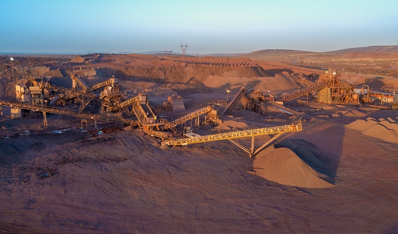 Afrimat's Demaneng iron ore mine in the Northern Cape Province of South Africa. The company's new iron ore acquisitions are located next to the Demaneng mine. Image credit: Afrimat