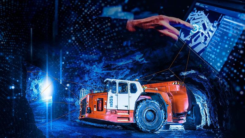 Innovation in mining. Image credit: Sandvik