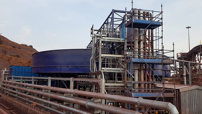 FLSmidth bolted thickeners were selected for a coal plant in Mozambique. Image credit: FLSmidth