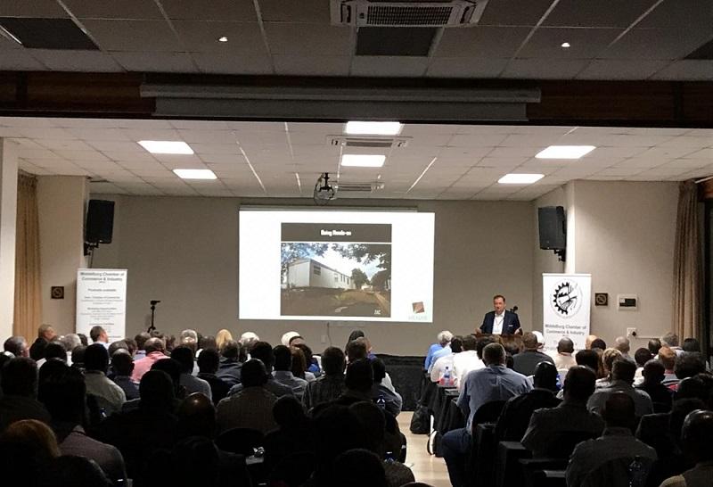 Vuslat Bayoglu during his presentation during the Coal symposium. Iamge credit: Menar
