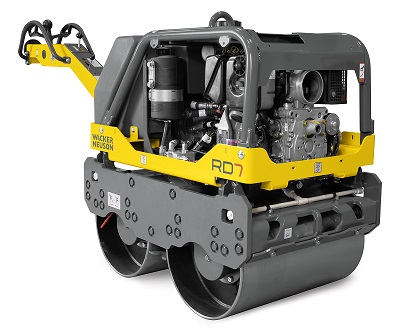 A two-year manufacturing warranty has been extended for the Wacker Neuson RD7 pedestrian rollers. Image credit: Wacker Neuson