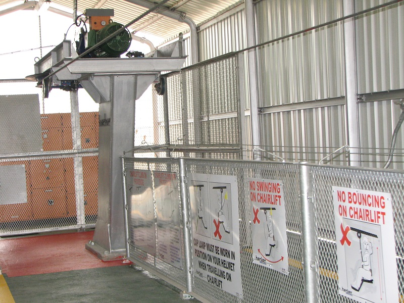 Becker Mining South Africa has recently launched a new upgraded chairlift which is used to safely transport personnel on mines throughout the world. Image credit: Becker Mining