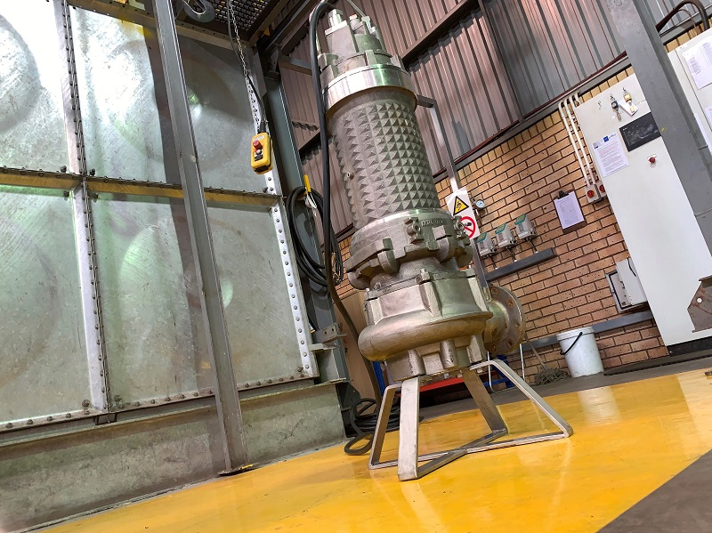 The stainless steel Faggiolati pump repaired to OEM standards by Integrated Pump Technology. Image credit: Integrated Pump Technology
