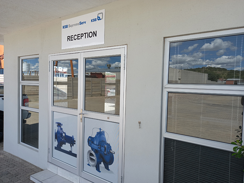 KSB Namibia opened the doors to its impressive new premises in Windhoek, Namibia. Photo by KSB Pumps and Valves Namibia