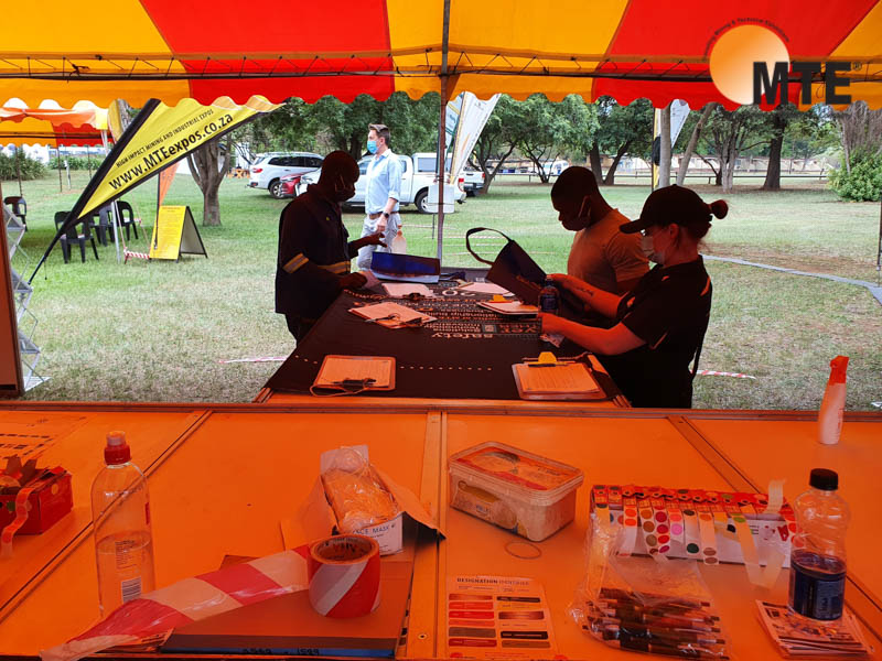 MTE Team getting ready at last years Ngodwana expo. Photo by MTE