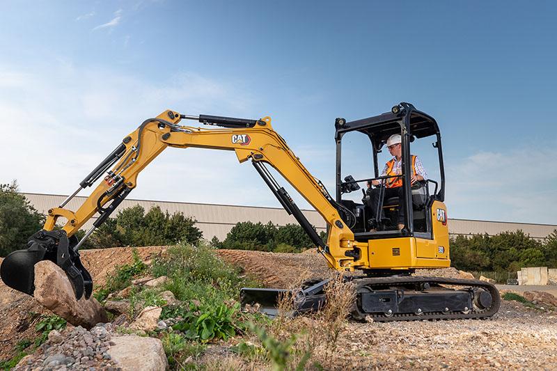 Catterpillar's new mini hydraulic excavator improves efficiencies. Photo by Caterpillar