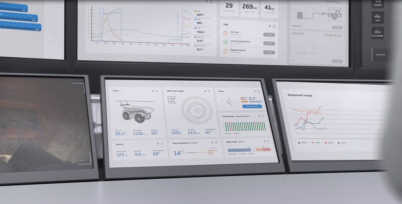 ABB Ability eMine is integrated with digital applications and services to monitor and optimise energy usage. Photo credit: ABB