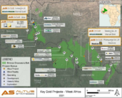 Location of Tabakorole and Altus's other projects in Mali. Photo credit: Altus Strategies