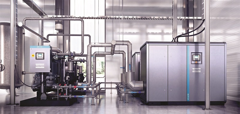 Atlas Copco's cutting-edge compressor room optimisation solutions help users gain full benefit from their compressed air systems. Photo credit: Atlas Copco