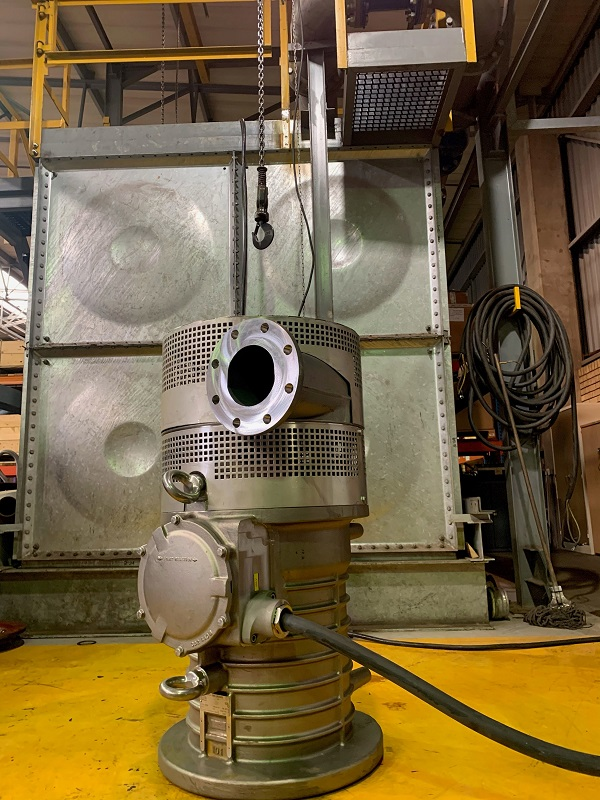 Grindex stainless steel pumps are engineered to operate reliably in contaminated water. Photo credit: Integrated Pump Technology